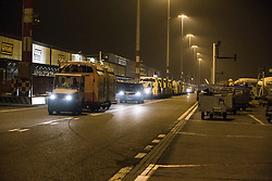 Transport of the flying stalls to the plane<br /> Departure of the horses to the World Cup Finals in Las Vegas from Schiphol - Amsterdam 2015.<br />  © Hippo Foto - Dirk Caremans