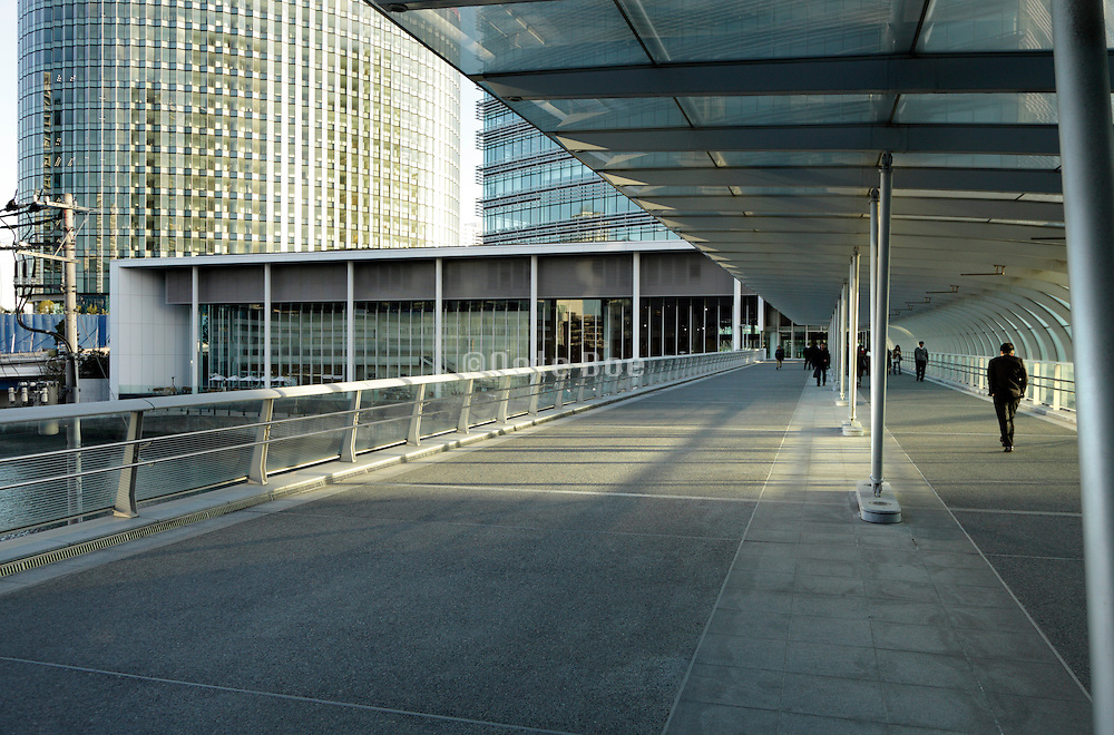modern office buildings and businessman arriving Japan Yokohama