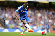 Kurt Zouma of Chelsea passing the ball. Barclays Premier League, Chelsea v Crystal Palace at Stamford Bridge in London on Saturday 29th August 2015.<br /> pic by John Patrick Fletcher, Andrew Orchard sports photography.