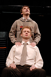 Citizenship<br /> at the Cottesloe Theater, London, Great Britain<br /> March 14, 2006<br /> press photocall<br /> <br /> Richard Dempsey - sitting<br /> Sid Mitchell - standing<br /> <br /> photograh by Elliott Franks