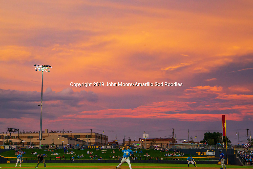 Amarillo Sod Poodles pitcher Jacob Nix (16) pitches against the Tulsa Drillers during the Texas League Championship on Wednesday, Sept. 11, 2019, at HODGETOWN in Amarillo, Texas. [Photo by John Moore/Amarillo Sod Poodles]