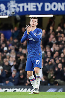 Chelsea's Mason Mount applauds the fans at the final whistle <br /> <br /> Photographer Stephanie Meek/CameraSport<br /> <br /> The Premier League - Chelsea v Everton - Sunday 8th March 2020 - Stamford Bridge - London<br /> <br /> World Copyright © 2020 CameraSport. All rights reserved. 43 Linden Ave. Countesthorpe. Leicester. England. LE8 5PG - Tel: +44 (0) 116 277 4147 - admin@camerasport.com - www.camerasport.com