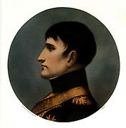 Napoleon Bonaparte (1769-1821)Emperor Napoleon I of France. After a portrait by Giuseppe Longhi. Mid-19th century print.