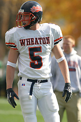 22 October 2005: Thunder WR Nate Mealy. The Illinois Wesleyan Titans posted a 23 - 14 home win by squeeking past the Thunder of Wheaton College at Wilder Field (the 5th oldest collegiate field in the US) on the campus of Illinois Wesleyan University in Bloomington IL