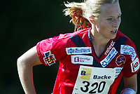 Orientering, 21. juni 2002. NM sprint. Linda Antonsen, Fredrikstad.