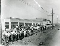 1911 Railroad workers on Van Nuys Blvd. in Van Nuys