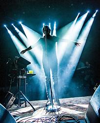 Paolo Nutini on stage tonight at the Usher Hall, Edinburgh.