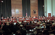 View of the House Judiciary Committee hearings on whether impeachment proceedings should begin against President Bill Clinton October 5, 1998 in Washington, DC. This is only the third time in US history that impeachment proceedings against a President have been brought to the House committee.