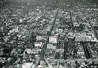 1938 Looking NE down Hollywood Blvd. near La Brea Ave.