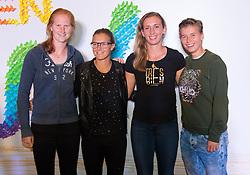 September 22, 2018 - Alison Van Uytvanck, Kirsten Flipkens & Elise Mertens of Belgium & Demi Schuurs of the Netherlands on the red carpet at the 2018 Dongfeng Motor Wuhan Open WTA Premier 5 tennis tournament players party (Credit Image: © AFP7 via ZUMA Wire)