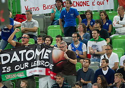 Fans of Italy during basketball match between National teams of Serbia and Italy in 7th Place game at Day 18 of Eurobasket 2013 on September 21, 2013 in Arena Stozice, Ljubljana, Slovenia. (Photo by Vid Ponikvar / Sportida)