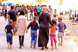 A family stroll through the Todra Gorge, Morocco<br /> <br /> (c) Andrew Wilson   Edinburgh Elite media