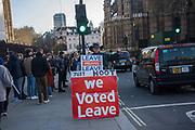 Leavers outside Parliament, London. 11 March 2019