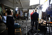 Discovery Channel ident shoot.
