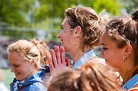AMSTELVEEN  -  ex international  Willemijn Kuis-Bos    na haar laatste hoofdklasse wedstrijd.   Hoofdklasse hockey dames ,competitie, dames, Amsterdam-Groningen (9-0) .     COPYRIGHT KOEN SUYK