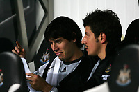 Photo: Andrew Unwin.<br /> Newcastle United v Sheffield United. The Barclays Premiership. 04/11/2006.<br /> Newcastle's Albert Luque (L) and Emre (R) take their place on the bench.