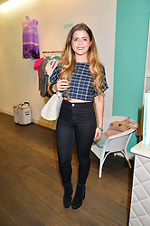 Fashion designer VERITY WARR at a It Starts With An Idea (ISAWAI) pop-up shop launch at 340 King's Road, London on 3rd September 2014.