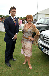 ESTHER RANTZEN and MIKE BOWEN at the Kuoni World Class Polo Day held at Hurtwood Park Polo Club, Surrey on 29th May 2005.<br /><br />NON EXCLUSIVE - WORLD RIGHTS