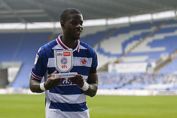 Lucas Joao of Reading with his man of the match award - Mandatory by-line: Arron Gent/JMP - 28/11/2020 - FOOTBALL - Madejski Stadium - Reading, England - Reading v Bristol City - Sky Bet Championship