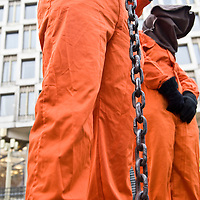 LONDON Jan 11  Protest has taken place in London  to mark the seventh anniversary of the opening of the Guantanamo Bay prison camp in Cuba. On the day that Barack Obama, the US president-elect, has revised his election campaign promise to shut the US detention camp in Guantanamo Bay within the first 100 days...Please telephone : +44 (0)845 0506211 for usage fees .***Licence Fee's Apply To All Image Use***.IMMEDIATE CONFIRMATION OF USAGE REQUIRED.*Unbylined uses will incur an additional discretionary fee!*.XianPix Pictures  Agency  tel +44 (0) 845 050 6211 e-mail sales@xianpix.com www.xianpix.com