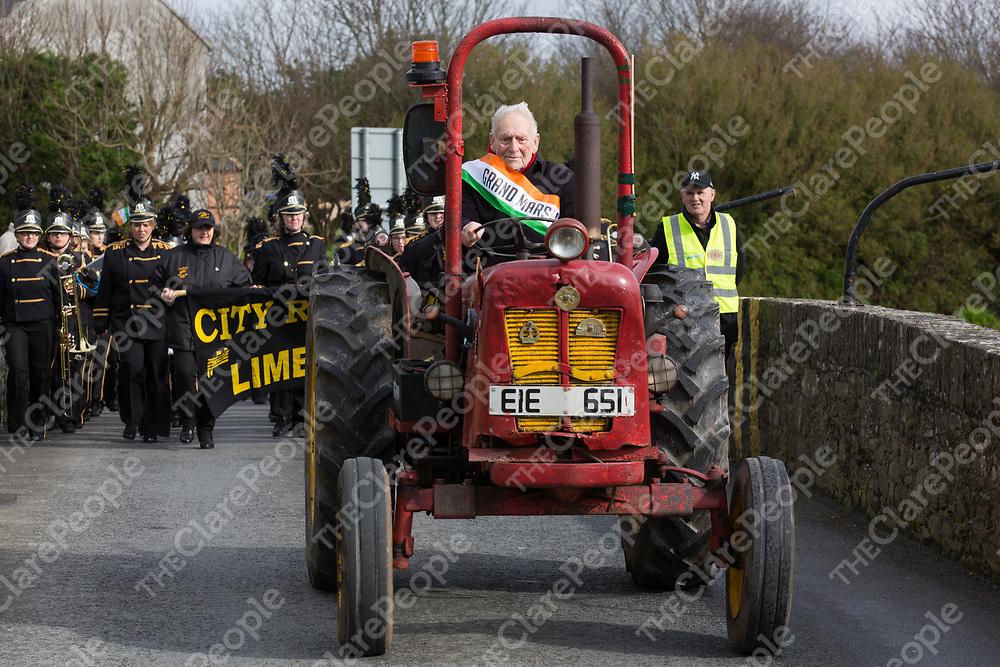 100 yr old (in May) Grand Marshall of the parade Matthew Bermingham from Moyasta driving his 67 yr old tractor