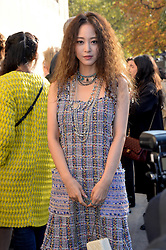 Guest arriving at the Chanel show as a part of Paris Fashion Week Ready to Wear Spring/Summer 2017 on October 4, 2016 in Paris, France. Photo by Julien Reynaud/APS-Medias/ABACAPRESS.COM