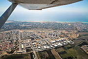 Aerial photography of Israel, Costal Plaine, the modern town of Caesarea