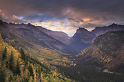 Fall in Glacier National Park.