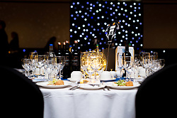 Entree and Table decorations prior to guest arrivals - Ryan Hiscott/JMP - 16/05/2019 - SPORT - Sandy Park - Exeter, England - Exeter Chiefs End of Season Awards