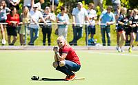 HUIZEN - Teleurstelling bij Nijmegen speelster Mauri Kleinschiphorst (Nijm.) bij de eerste play off wedstrijd voor promotie naar de hoofdklasse , Huizen-Nijmegen (3-2) COPYRIGHT KOEN SUYK