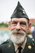 Kraig Bunnell, United States Army veteran of the Vietnam War, poses for a portrait during the Milpitas Memorial Day Ceremony at Veterans Memorial Flag Plaza in Milpitas, California, on May 27, 2013. (Stan Olszewski/SOSKIphoto)