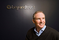 John Mutch, CEO of Beyondtrust, formerly Symark, in his offices in Agoura Hills Nov. 11, 2009. They specialize in family law.   Photo by David Sprague