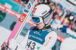 15.02.2020, Kulm, Bad Mitterndorf, AUT, FIS Ski Flug Weltcup, Kulm, Herren, im Bild Johann Andre Forfang (NOR) // Johann Andre Forfang of Norway during his Jump for the men's FIS Ski Flying World Cup at the Kulm in Bad Mitterndorf, Austria on 2020/02/15. EXPA Pictures © 2020, PhotoCredit: EXPA/ JFK