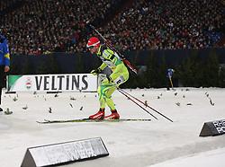 28.12.2013, Veltins Arena, Gelsenkirchen, GER, IBU Biathlon, Biathlon World Team Challenge 2013, im Bild Jakov Fak (Slowenien / Slowenia) // during the IBU Biathlon World Team Challenge 2013 at the Veltins Arena in Gelsenkirchen, Germany on 2013/12/28. EXPA Pictures © 2013, PhotoCredit: EXPA/ Eibner-Pressefoto/ Schueler<br /> <br /> *****ATTENTION - OUT of GER*****