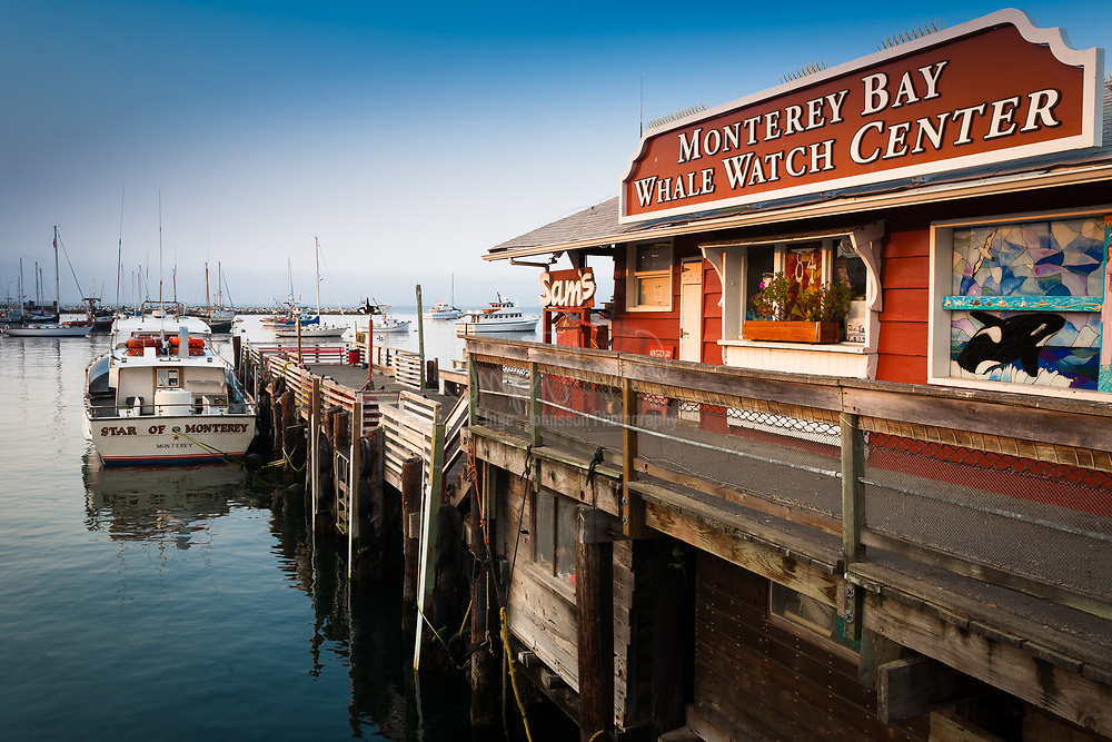 Dock in the marina of Monterey, California