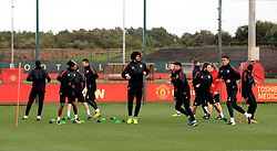 A general view during the training session at the AON Complex, Carrington.