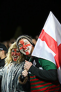 England fans during the third rugby test between the All Blacks and England played at Waikato Stadium in Hamilton during the Steinlager Series - All Blacks v England, Hamiton, 21 June 2014<br /> www.photosport.co.nz