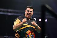 Jose de Sousa during the Premier League Darts at Marshall Arena, Milton Keynes, United Kingdom on 5 April 2021.