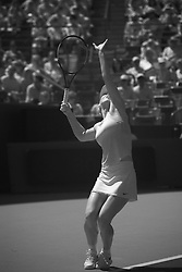 August 19, 2018 - Cincinnati, OH, USA - Western and Southern Open Tennis, Cincinnati, OH - August 19, 2018 - Simona Halep in action against Kiki Bertens in infra-red in the finals of the Western and Southern Tennis tournament held in Cincinnati. Bertens won 2-6 7-6 6-2. - Photo by Wally Nell/ZUMA Press (Credit Image: © Wally Nell via ZUMA Wire)