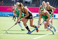 ANTWERP - BELFIUS EUROHOCKEY Championship.women  Ireland-Gemany (1-1).  Germany placed for semifinals . Hanna Granitzki (Ger) with Sarah Hawkshaw (Irl)  WSP/ KOEN SUYK