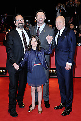 James Mangold, Patrick Stewart, Dafne Keen and Hugh Jackman attending the Logan Premiere during the 67th Berlin International Film Festival (Berlinale) in Berlin, Germany on Februay 17, 2017. Photo by Aurore Marechal/ABACAPRESS.COM