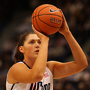 Stefanie Dolson, Connecticut, in action during the Connecticut V Syracuse Semi Final match during the Big East Conference, 2013 Women's Basketball Championships at the XL Center, Hartford, Connecticut, USA. 11th March. Photo Tim Clayton