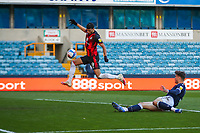 Football - 2020 / 2021 Sky Bet (EFL) Championship - Millwall vs AFC Bournemouth  - The Den<br /> <br /> With an open gal beckoning the ball comes off Dominic Solanke (AFC Bournemouth) knee and goes over the bar from 5 yards<br /> <br /> COLORSPORT/DANIEL BEARHAM