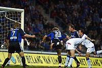 Fotball - Belgisk liga 2002/2003<br /> 18.04.2003<br /> Genk v Brugge<br /> Bengt Sæternes scoret 1-0 for Brugge<br /> Foto: Digitalsport