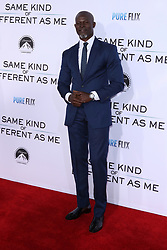 """Djimon Hounsou at the Paramount Pictures And Pure Flix Entertainment's """"Same Kind Of Different As Me"""" Premiere held at the Westwood Village Theatre on October 12, 2017 in Westwood, California, USA (Photo by Art Garcia/Sipa USA)"""