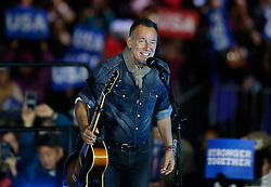 November 7, 2016 - Philadelphia, PA, U.S - Singer Bruce Springsteen performs at a campaign event for Democratic presidential candidate Hillary Clinton on Independence Mall in Philadelphia, November 7, 2016. (Credit Image: © Gary Hershorn via ZUMA Wire)