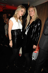 Left to right, EUGENIE NIARCHOS and OLYMPIA SCARRY at a party to celebrate the launch of the Kova & T fashion label and to re-launch the Harvey Nichols Fifth Floor Bar, held at harvey Nichols, Knightsbridge, London on 22nd November 2007.<br />