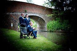 The Groom and his Groomsman, relaxing doing a spot of fishing on his big day!