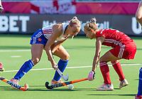 ANTWERP - BELFIUS EUROHOCKEY Championship.  women  England v Belarus (4-3) . Hannah Martin (Eng) with Kristina Mitskevich (BLR) . WSP/ KOEN SUYK