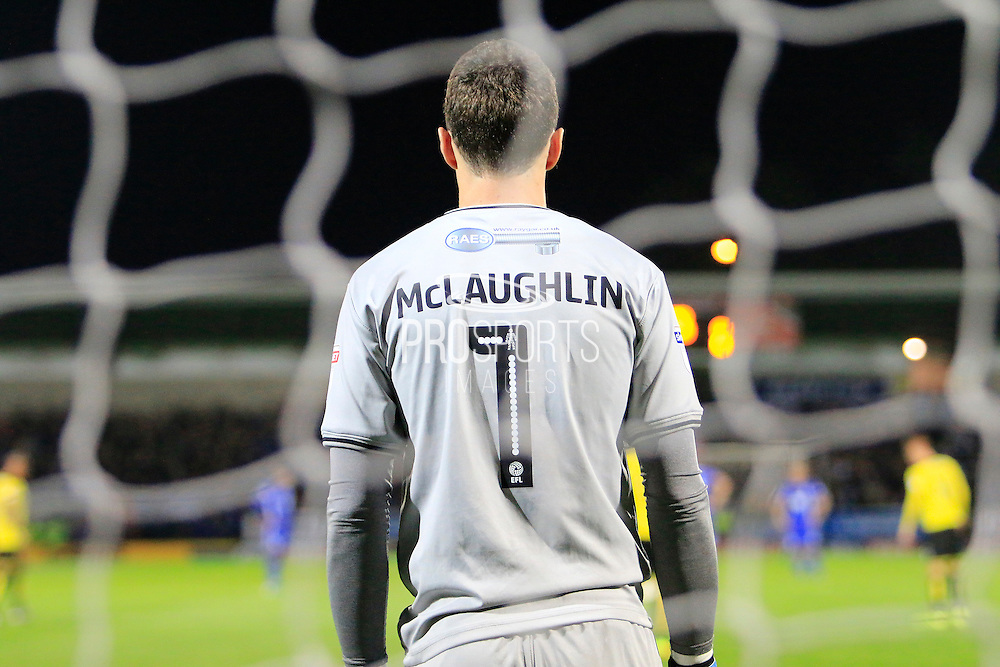 Burton's Jon McLaughlin (1) during the EFL Sky Bet Championship match between Burton Albion and Birmingham City at the Pirelli Stadium, Burton upon Trent, England on 21 October 2016. Photo by Richard Holmes.